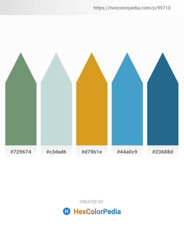 Palette image download - Dark Sea Green – Light Steel Blue – Goldenrod – Steel Blue – Sky Blue