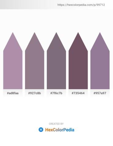 Palette image download - Rosy Brown – Gray – Gray – Dim Gray – Silver