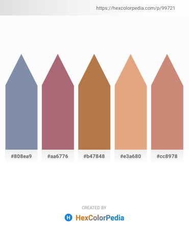 Palette image download - Light Slate Gray – Rosy Brown – Peru – Burlywood – Tan