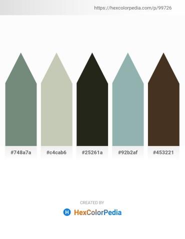 Palette image download - Slate Gray – Dark Sea Green – Black – Dark Sea Green – Dark Sea Green