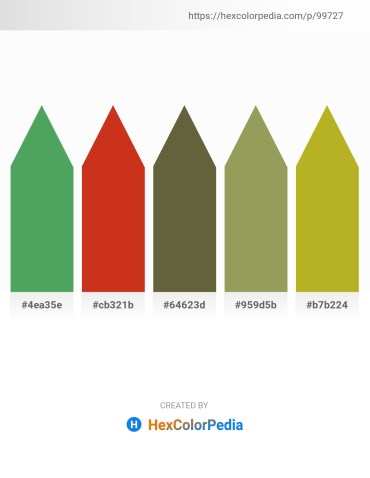 Palette image download - Medium Sea Green – Firebrick – Dark Olive Green – Dark Khaki – Goldenrod