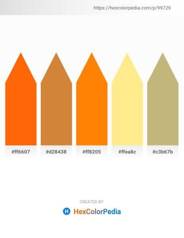 Palette image download - Orange Red – Peru – Dark Orange – Navajo White – Dark Khaki