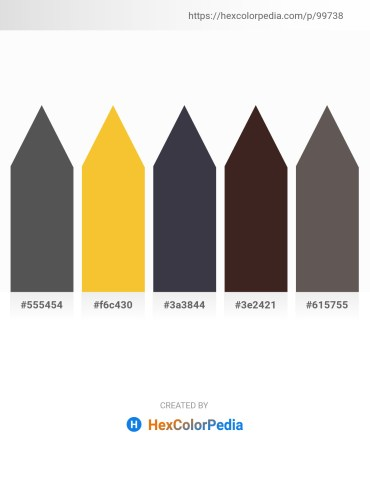 Palette image download - Dim Gray – Gold – Dark Slate Gray – Gainsboro – Dim Gray