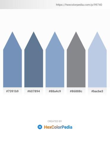 Palette image download - Cadet Blue – Slate Gray – Light Steel Blue – Slate Gray – Light Steel Blue