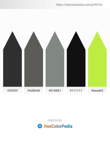 Palette image download - Black – Dim Gray – Slate Gray – Black – Green Yellow