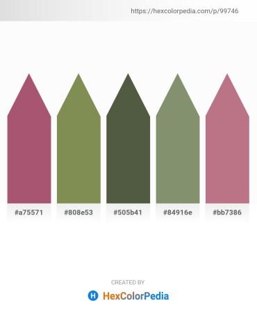 Palette image download - Rosy Brown – Dark Olive Green – Dark Olive Green – Dark Sea Green – Rosy Brown
