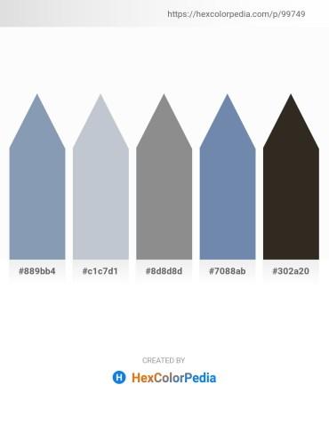 Palette image download - Light Slate Gray – Light Steel Blue – Gray – Light Slate Gray – Black
