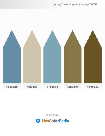 Palette image download - Cadet Blue – Tan – Cadet Blue – Dark Olive Green – Dark Olive Green