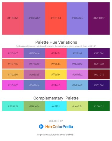 Palette image download - Light Coral – Slate Blue – Tomato – Medium Purple – Purple