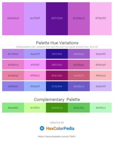 Palette image download - Medium Orchid – Sandy Brown – Indigo – Medium Orchid – Violet
