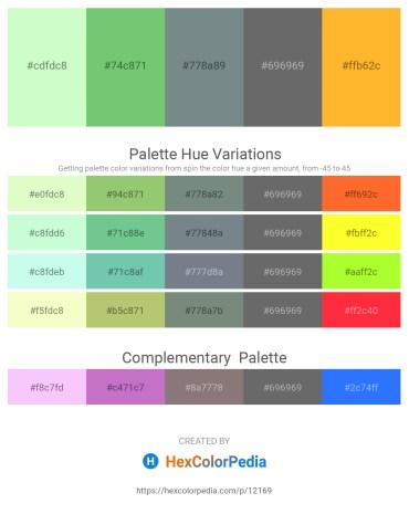 Palette image download - Honeydew – Medium Aquamarine – Slate Gray – Dim Gray – Orange