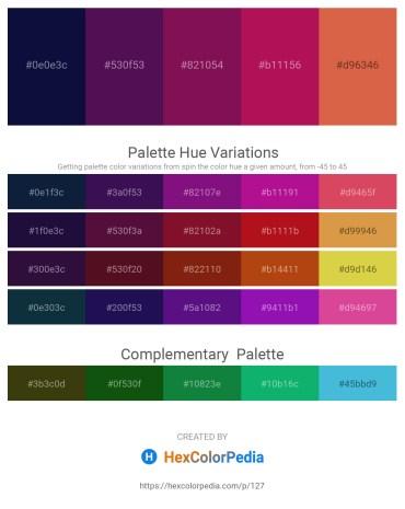 Palette image download - Midnight Blue – Purple – Purple – Medium Violet Red – Peru