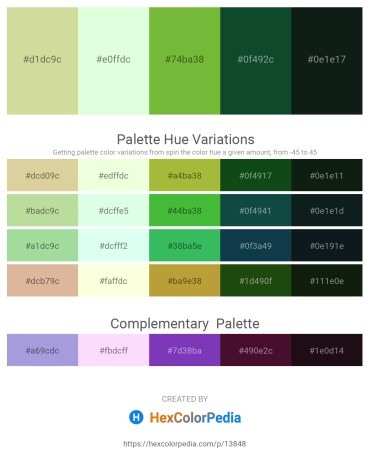 Palette image download - Tan – Honeydew – Yellow Green – Dark Sea Green – Dark Slate Gray