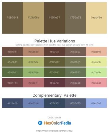 Palette image download - Dark Olive Green – Dark Khaki – Gray – Dim Gray – Pale Goldenrod
