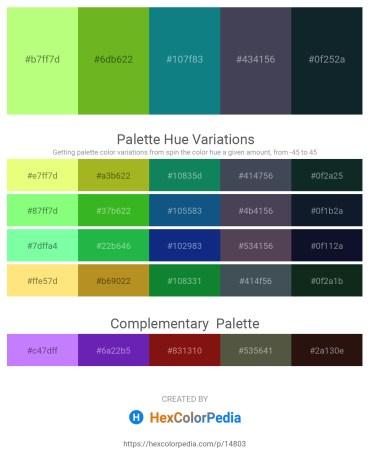 Palette image download - Pale Green – Olive Drab – Teal – Gray – Dark Slate Gray