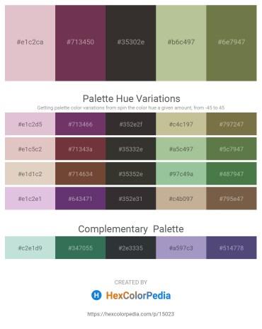Palette image download - Thistle – Misty Rose – Black – Dark Sea Green – Dark Olive Green