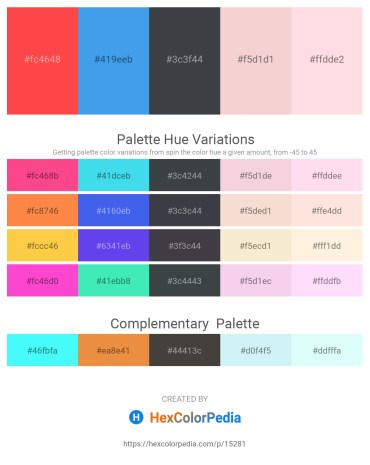 Palette image download - Tomato – Cornflower Blue – Dark Slate Gray – Linen – Misty Rose