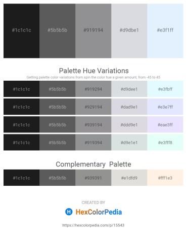 Palette image download - Black – Dim Gray – Light Slate Gray – Light Steel Blue – Alice Blue