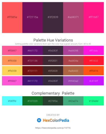 Palette image download - Tomato – Purple – Black – Indian Red – Deep Pink