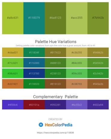 Palette image download - Yellow Green – Teal – Olive Drab – Dark Khaki – Olive Drab