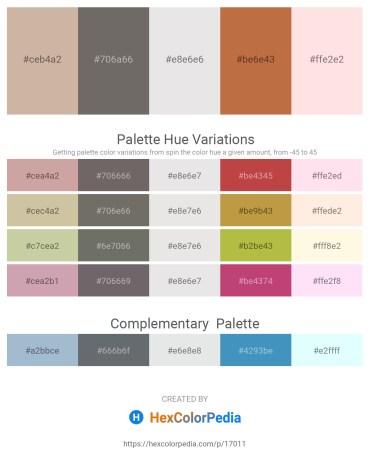 Palette image download - Tan – Dim Gray – Gainsboro – Peru – Misty Rose