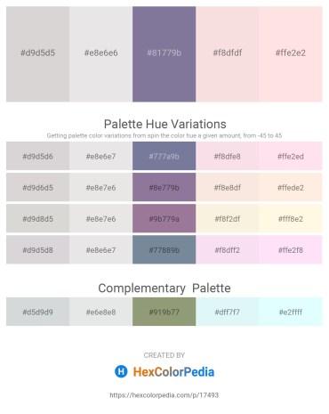 Palette image download - Light Gray – Gainsboro – Light Slate Gray – Linen – Misty Rose