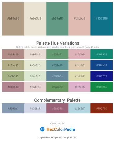 Palette image download - Rosy Brown – Beige – Cadet Blue – Tan – Teal