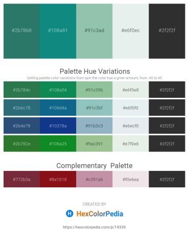 Palette image download - Sea Green – Dark Cyan – Dark Sea Green – Light Steel Blue – Black