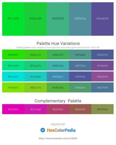 Palette image download - Lime – Lime Green – Medium Sea Green – Cadet Blue – Dark Slate Blue