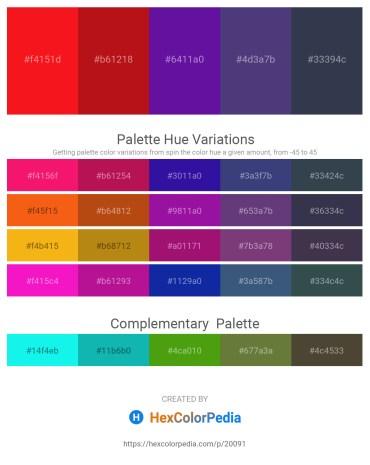 Palette image download - Red – Firebrick – Indigo – Dark Slate Blue – Dark Slate Gray