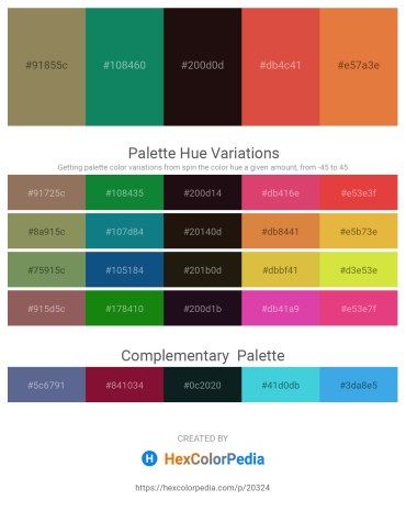 Palette image download - Dark Khaki – Teal – Black – Chocolate – Chocolate