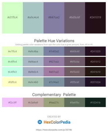 Palette image download - Honeydew – Dark Sea Green – Light Slate Gray – Dark Sea Green – Black