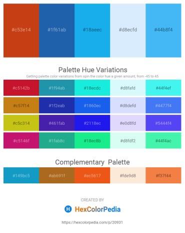 Palette image download - Chocolate – Chocolate – Deep Sky Blue – Alice Blue – Cornflower Blue