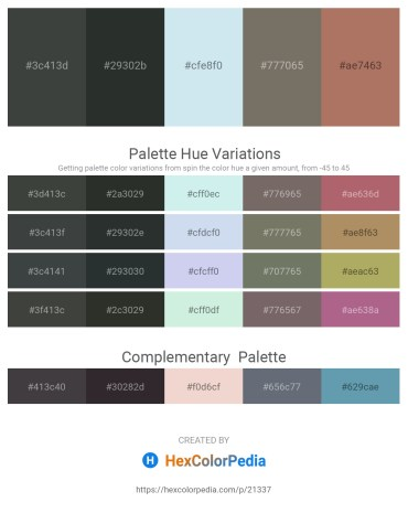 Palette image download - Dark Slate Gray – Dark Slate Gray – Powder Blue – Dim Gray – Rosy Brown