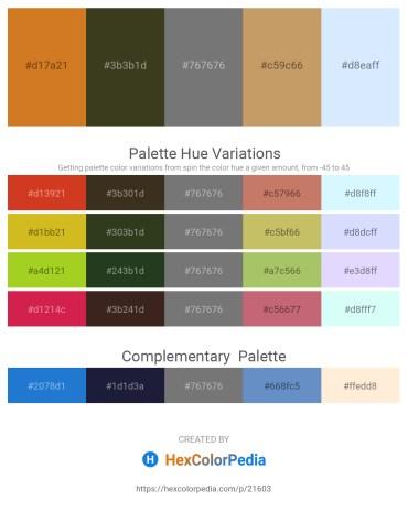 Palette image download - Chocolate – Dark Olive Green – Gray – Dark Khaki – Alice Blue