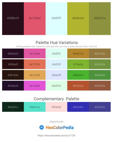 Palette image download - Lime – Pale Violet Red – Light Cyan – Yellow Green – Dark Olive Green