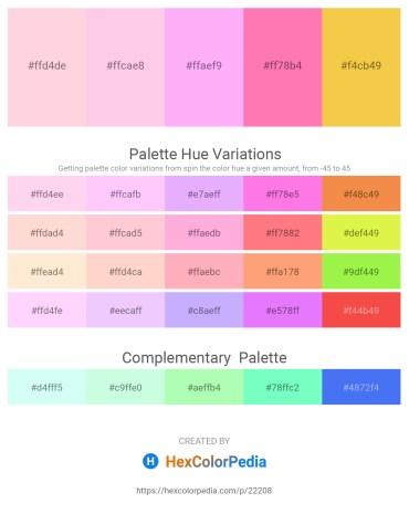Palette image download - Misty Rose – Pink – Pink – Hot Pink – Sandy Brown