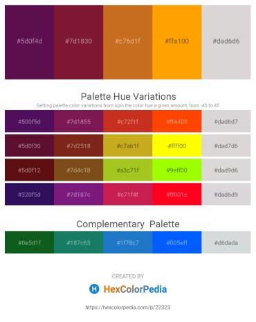 Palette image download - Purple – Brown – Chocolate – Orange – Gainsboro
