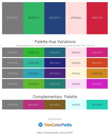Palette image download - Gray – Medium Sea Green – Midnight Blue – Misty Rose – Crimson