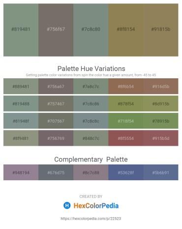 Palette image download - Dark Sea Green – Dim Gray – Slate Gray – Dark Khaki – Dark Khaki