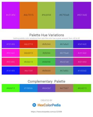 Palette image download - Dark Violet – Chocolate – Yellow Green – Cadet Blue – Blue Violet