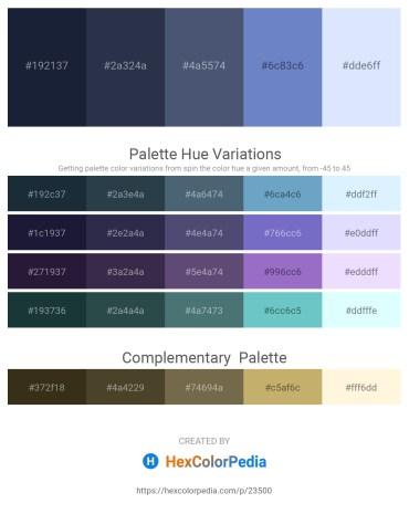 Palette image download - Dark Slate Gray – Dark Slate Gray – Dark Slate Blue – Slate Blue – Alice Blue
