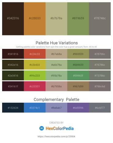 Palette image download - Black – Peru – Dark Khaki – Dark Khaki – Dim Gray
