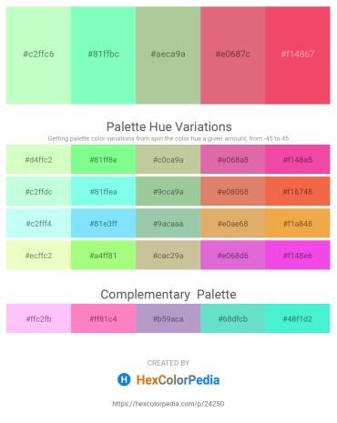 Palette image download - Honeydew – Aquamarine – Dark Sea Green – Pale Violet Red – Tomato