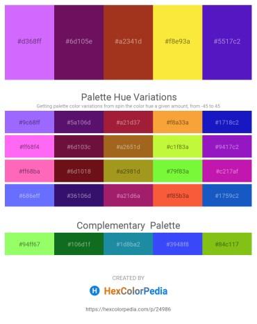 Palette image download - Medium Slate Blue – Purple – Firebrick – Gold – Blue Violet