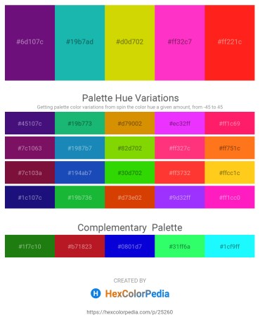 Palette image download - Indigo – Light Sea Green – Gold – Deep Pink – Red