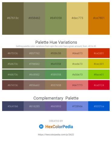 Palette image download - Dark Olive Green – Gray – Dark Khaki – Burlywood – Dark Goldenrod