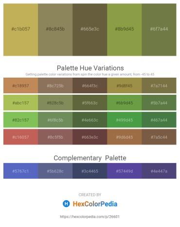 Palette image download - Dark Khaki – Gray – Dark Olive Green – Dark Khaki – Dark Olive Green