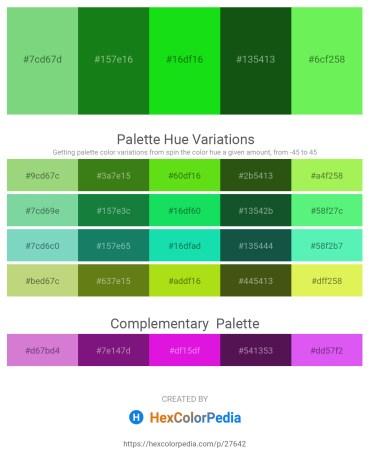 Palette image download - Medium Aquamarine – Forest Green – Lime – Forest Green – Light Green