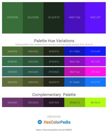 Palette image download - Dark Olive Green – Dark Olive Green – Dark Slate Gray – Blue Violet – Dark Violet